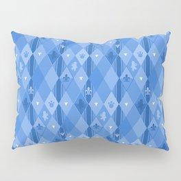 Blue Lily Bear Pillow Sham