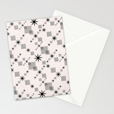 Abstract black pattern on a cream background Stationery Cards