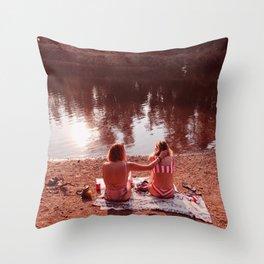 Summer Girls Throw Pillow