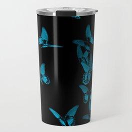Blue butterflies Travel Mug