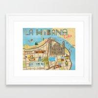 cuba Framed Art Prints featuring Cuba by Sahily Tallet Yip