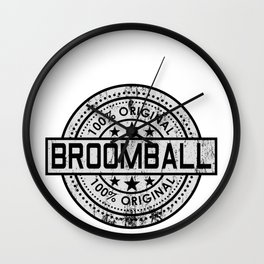 Broomball Ball Sport Team Game Broom Gift Idea Wall Clock