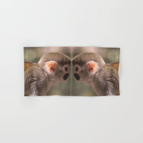 Mirror monkeys Hand & Bath Towel