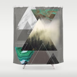 Triangles Symphony Shower Curtain