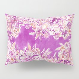 GOOD VIBES Wild Pink Watercolor Floral Pillow Sham
