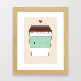 Bring coffee Framed Art Print