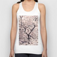 cherry blossom Tank Tops featuring Cherry Blossom * by Neon Wildlife