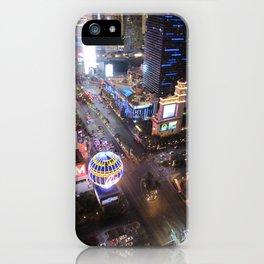Las vegas strip up view iPhone Case
