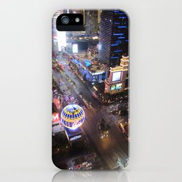 Las vegas strip up view iPhone Case