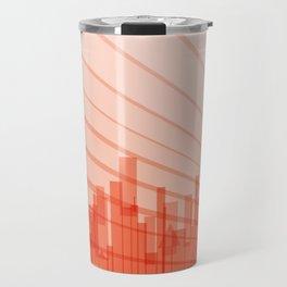City Abstract Background Travel Mug