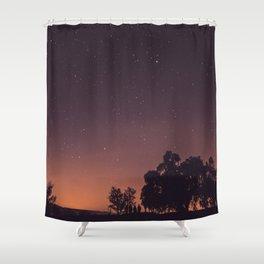 Sunset stars Shower Curtain