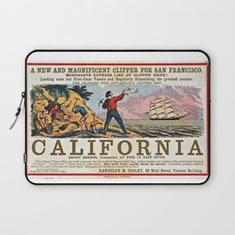 A New and Magnificent Clipper for San Francisco. Merchant's Express Line of Clipper Ships! Laptop Sleeve