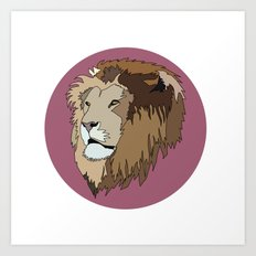 Wild Rectangular Lion Art Print