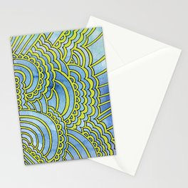 Water & Color Drawing Meditation - Lime Stationery Cards