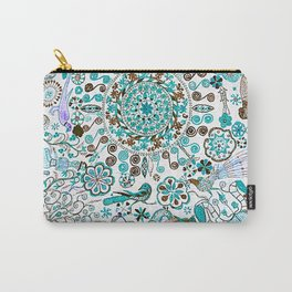 Mandala - Boho Pastel Vintage Embroidery Carry-All Pouch
