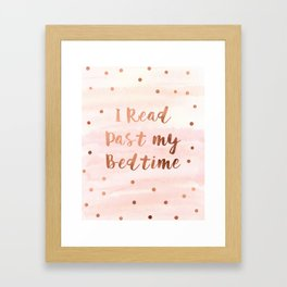 I Read Past My Bedtime Framed Art Print