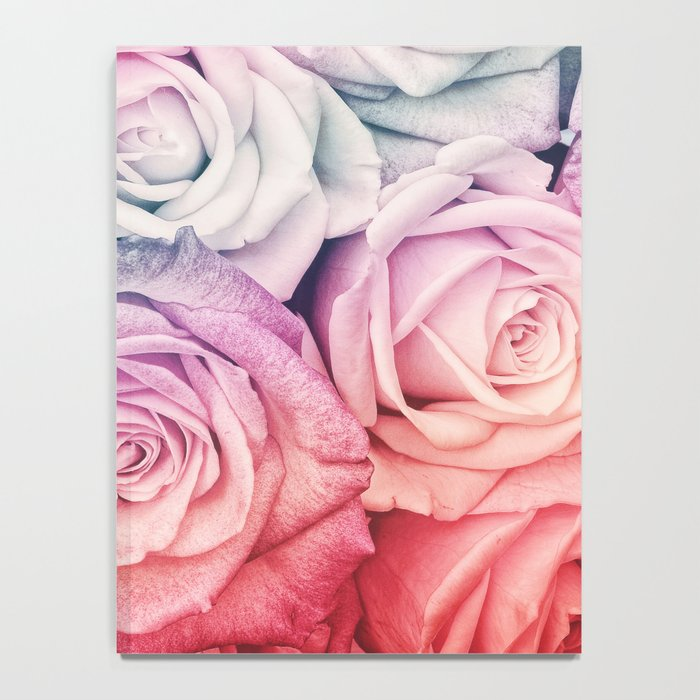 Some people grumble II  Floral rose flowers pink and multicolor Notebook