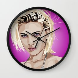 Rotoscope Scarlett Johansson Wall Clock