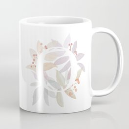 Rustic Initial O - Watercolor Letter Branches and Leaves Coffee Mug