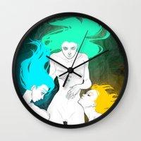 bible Wall Clocks featuring Neon Bible by Tiweless Wachine