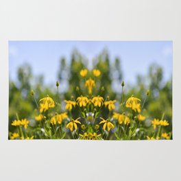more tests flower print Rug