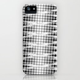 Slim Look Leggings Checkers White Paint Stripes Pattern iPhone Case