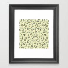 Doodles Pattern Framed Art Print