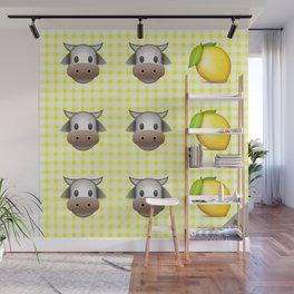 Milk Milk Lemonade Emoji Wall Mural