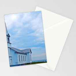 Church and Sea Stationery Cards