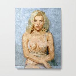 Scarlett Johansson fantasy nude artwork Metal Print