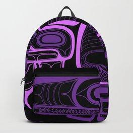 Tlingit thunderbird purple Backpack