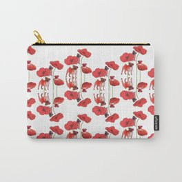 Pugs and Poppies Carry-All Pouch