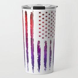 Red & blue gradient USA flag Travel Mug