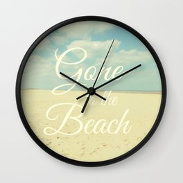Gone To The Beach Wall Clock