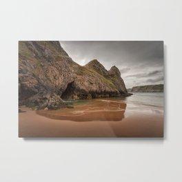Three Cliffs Gower Metal Print