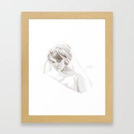 Lady Mary Framed Art Print