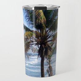 Black Sand Beaches and Palm trees Travel Mug