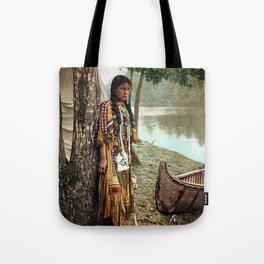 Native American Little Girl Tote Bag