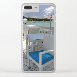 terraces near the sea Clear iPhone Case