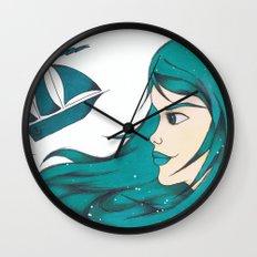 Poseidon Goddess of the Sea Wall Clock