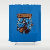 cookies Shower Curtains featuring Cookies! by WinterArtwork