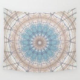 Soft Neutral Mandala Design Wall Tapestry