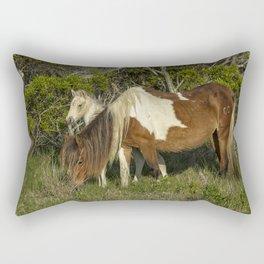 Chincoteague Foal No. 1 with Mother Rectangular Pillow