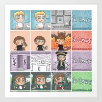 cyrilliart Art Prints featuring That's the punchline by Cyrilliart