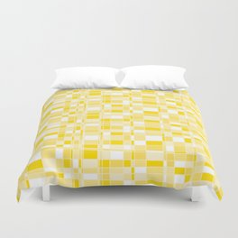 Mod Gingham - Yellow Duvet Cover