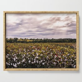 Cotton Field 23 Serving Tray