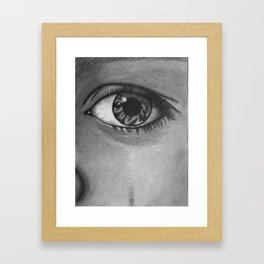 Eye Cry Framed Art Print