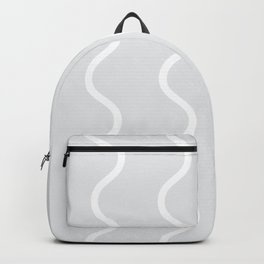 Light Grey Squiggle Pattern Backpack