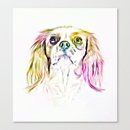 Cavalier King Charles Spaniel Dog Art Painting Canvas Print