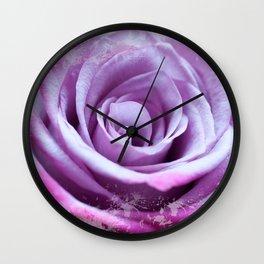Rose of Love #Pink #Purple #art #society6 Wall Clock